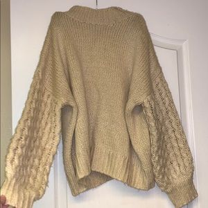 Forever 21 contemporary balloon sleeve sweater